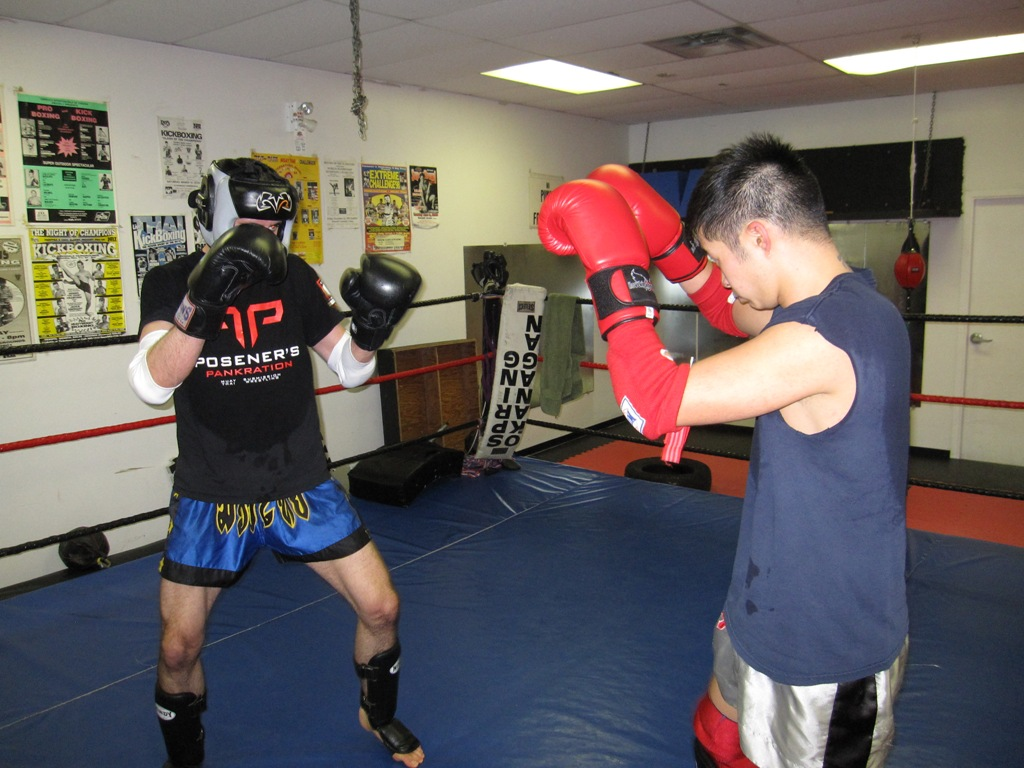Muay Thai Kickboxing test sparring picture
